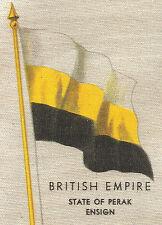 Vintage tobacco silk KENSITAS CIGARETTES flag: BRITISH EMPIRE STATE OF PERAK