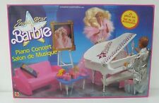 Super Star Barbie Doll 1989 Piano Bar Music Concert Portrait Furniture