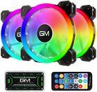 Gaming+PC+RGB+Case+Fans%2C+%282x%29+3+Pack+120mm+Quiet+Computer+Cooling+PC+Fans+6+Fans