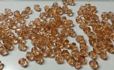20 perles à facettes verre toupie 6mm rose saumon //1