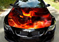 Fire Dragon Car Bonnet Wrap Decal Full Color Graphics Vinyl Sticker #297