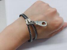 Handmade Silver tone Zipper Bracelet