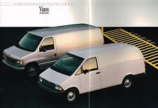 1992 Ford COMMERCIAL VANS Brochure :E-150,250,SUPERVAN,CLUB WAGON,AEROSTAR,ECONO