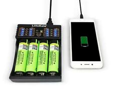 Chargeur 4 Piles Micro USB DC 5V 18650/26650/16340/14500 AAA AA A SC