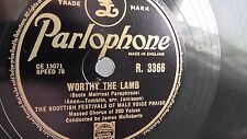 Scottish Festivals of Male Voice Praise - 78rpm 10-inch –  Parlophone #R.3366