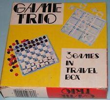 1974 Game Trio Chess, Checkers, Tic Tac Toe