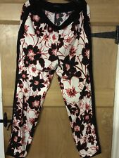 Ladies Flower Print Trousers by Sisley - Size 14