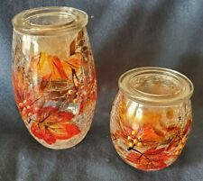Yankee Candle Co. 2x tea light holders - Autumn leaves