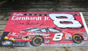 Dale Earnhardt Jr #8 Budweiser Banner Postere NASCAR 2000 Racing Vinyl 2 Sided