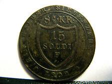 !!! 15 Soldi 1802 F Görz Franz II (I) schöne Patina - Silber !!!