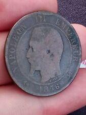 1856 B 10 Centimes Coin France Napoleon III Kayihan coins