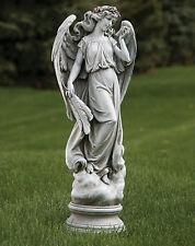 """27.5""""H Angel On Cloud Pedestal Outdoor Garden Statue Joseph's Studio # 66322"""