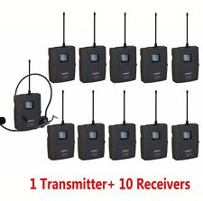 UHF Wireless Voice Acoustic Transmission Tour Exhibit Guide  System 12 Channels