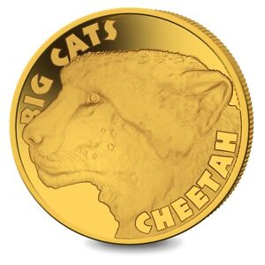 2020 Sierra Leone Big Cats Cheetah 0.5 Gram .999 Gold Proof Coin - 199 Mintage