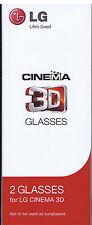 OVP 2 x lg Cinema 3 d glasses artículo en no abiertos embalaje original