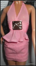 OUTFIT  BARBIE DOLL MODEL MUSE KIMORA LEE SIMMON PINK TOP & BOTTOM SKIRT BLOUSE