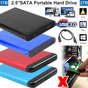 Tragbare 1TB 2TB Externe Festplatte USB 3.0 HDD Hard Drive für PC Laptop