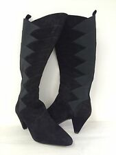 New J. Renee Womens WALKALINE Black Zip Knee High Fashion Heeled Boots Sz 10M