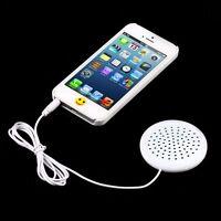 Mini 3.5mm Pillow Speaker Audio For MP3 MP4 CD iPod Smartphone Tablet White