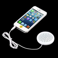 New Portable 3.5mm AUX Pillow mini Speaker for MP3 MP4 CD iPod Phone White AU