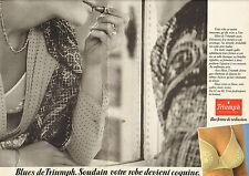 Publicité  Print AD 1980  ( Double page )  Lingerie Triumph