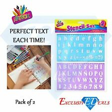 Alphabet Stencil Set, Small & Large Alphabet / Letters / Numbers - 2 Piece Set