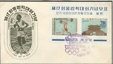 Korea Olympische Spiele Olympic Games 1960 First Day cover with sheet