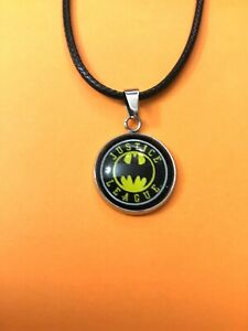 DC Comics Justice League Batman Logo Charm Pendant Necklace