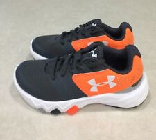 "UNDER ARMOUR ""Primed"" Youth Gray & Bright Orange Sneakers~~Size 11K"