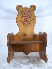 Toddler Wooden Teddy Bear Rocking Chair Vintage