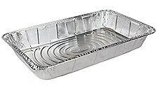 Handi-Foil 1/2 Half-Size Deep Aluminum Steam Table Pan 100/PK -Disposable Trays