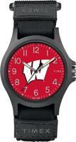 University of Wisconsin Badgers Men's Watch Timex Adjustable Strap Watch