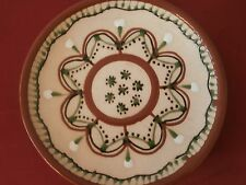 Vtg Made in the USSR Terracotta Glazed Decorative Popular Art Plate