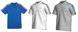 Mens Adidas 3 Stripe Polo Shirt - x29780