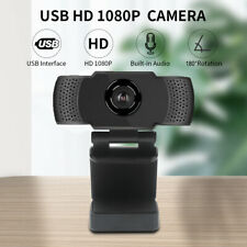 Web Camera Rotation USB HD 1080P Camera With Mic Clip-on for Android PC Meeting