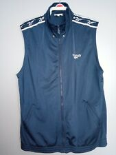Vintage Reebok Sleeveless Track Jacket Navy Blue Men's Very Good Condition