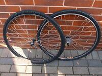 road bike wheels 700 C FiR Shimano Deore LX FH-M560 HB-M560 7 speed Kenda