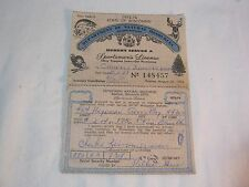 Department Of Natural Resources Sportsmen'S License 1973 74 T*