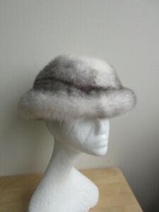 Women's Brand New Natural Cross Mink Fur Hat  END OF SEASON SALE!