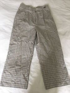 Aquascutum Checked Cropped Trousers Xs 8