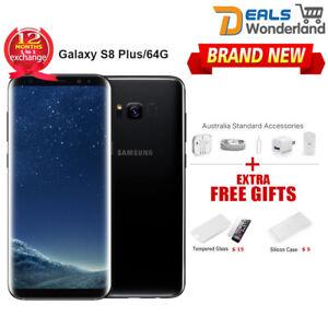 New Unlocked Samsung Galaxy S8 Plus G955F 4G LTE 64G Black 1Yr Wty FREE EXPRESS