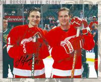 Sergei Fedorov Detroit Red Wings Autographed 8x10 w/Nicklas Lidström