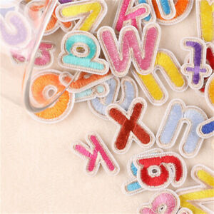 A to Z Sew On Patches Fabric Letters For Jeans Embellishments Decors 26-pack