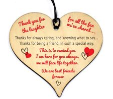 #764 Plaque Sign Good / Best Friend Gift Shabby Chic Heart Birthday Christmas