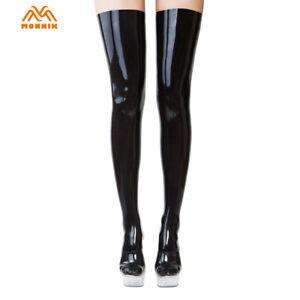 Latex Stockings Rubber Unisex Long Tight Socks丨Latex Bodysuit Catsuit Clubwaer