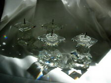 European Swarovski Double Sparkling Crystal Candle Holder Candlesticks Gorgeous