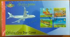 ESWATINI 2018 FDC - INDEPENDENCE KING TRAINS AVIONS AIRPLANES - RARE