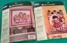 RARE OOP Bucilla Mary Engelbreit HOPE and JOY Christmas Felt Kits 85342 & 85343