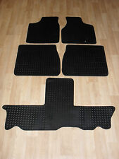 Chrysler Voyager Stow & Go 2004-08 Fully Tailored RUBBER Car Mats Black.