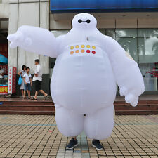 Inflatable Baymax Special Big Hero 6 Mascot Costumes Blow Up Fancy Cute Adult ++